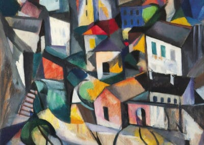 Road and houses - Armand Schönberger (1929)