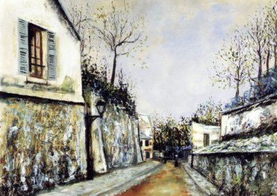 Rue Saint-Vincent à Montmartre - Maurice Utrillo (1914)