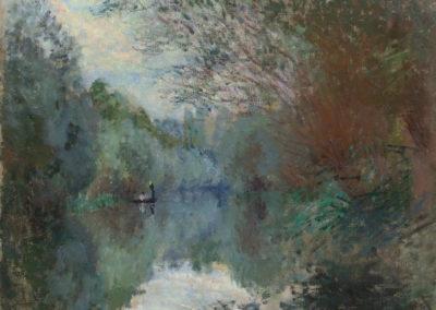 Saules au bord de l'Yerres - Claude Monet (1876)