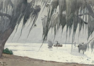 Spanish moss at tampa - Winslow Homer (1886)