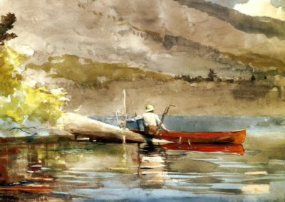 The red canoe - Winslow Homer (1899)