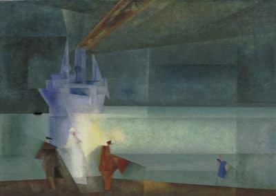 The steamer Odin, II - Lyonel Feininger (1927)