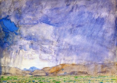 Thunderstorm on the Oregon Trail - Childe Hassam (1898)