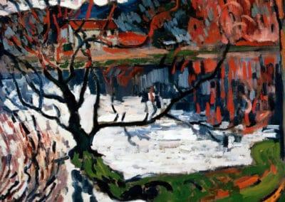 Barrage à Ursine près de Chaville - Maurice de Vlaminck (1905)