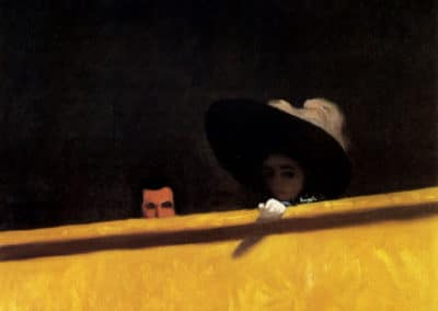 Box seats at the theater, the gentleman and the lady - Felix Vallotton (1912)