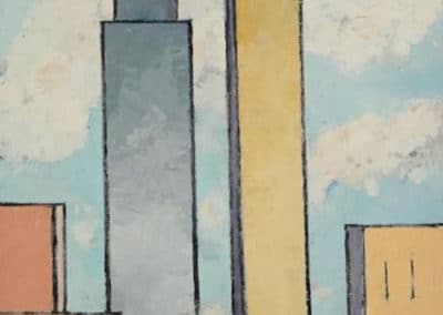 City skyline - Charles Green Shaw (1931)
