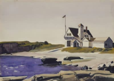 Coast guard station, two lights, Maine - Edward Hopper (1927)