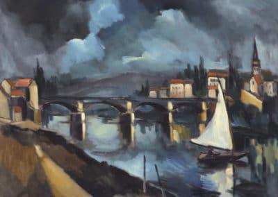 La Seine à Chatou - Maurice de Vlaminck (1901)