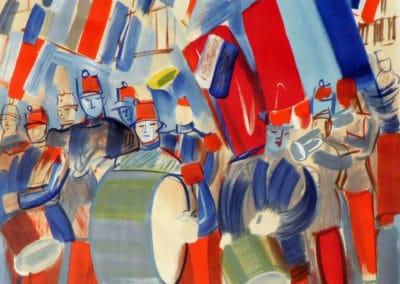 La fanfare 14 juillet Champs-Elysées - Raoul Dufy (1951)