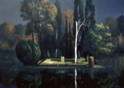 La pierre tombale - Arnold Böcklin (1880)