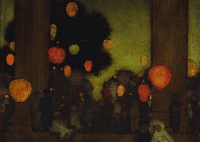 Lanternes au crepuscule - Maxfield Parrish (1926)