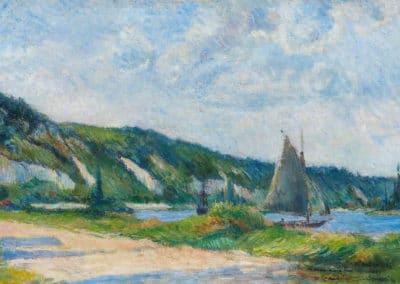 Les falaises de La Bouille - Paul Gauguin (1884)