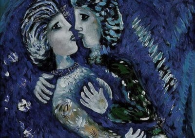 Lovers and the moon - Marc Chagall (1926)
