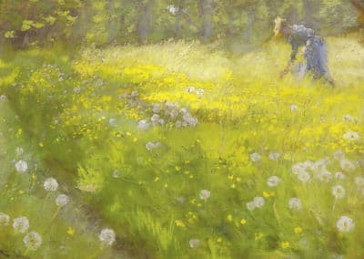 Marie Kroyer in the garden at Skagen - Peder Severin Kroyer (1892)