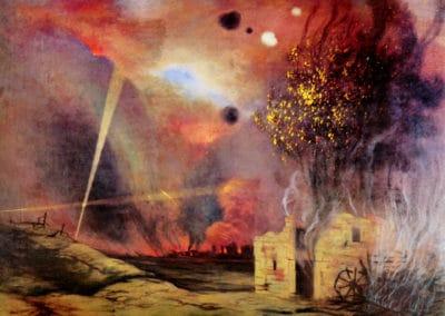 Paysage en ruine et en feu - Felix Vallotton (1916)