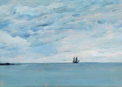 Sea by the coasts of Finland - Isaac Levitan (1899)