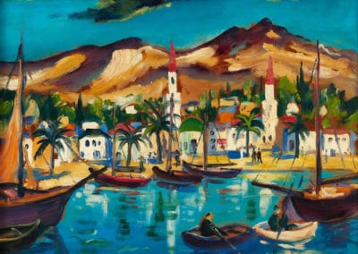 Southern lakescape - Franz Heckendorf (1949)