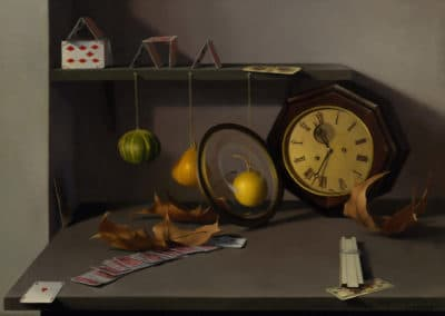 Still life with a clock - Amy Weiskopf (1986)