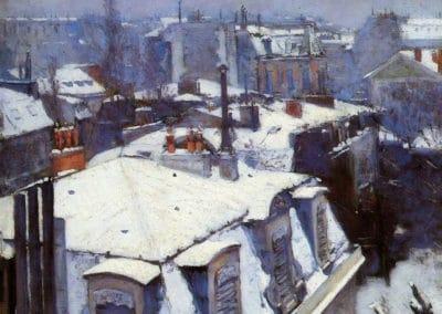 Effet de neige - Gustave Caillebotte (1878)