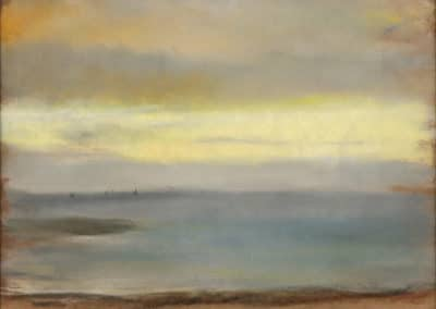 Marine, soleil couchant - Edgar Degas (1869)