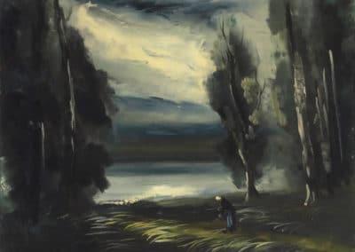Paysage avec un personnage - Maurice de Vlaminck (1931)
