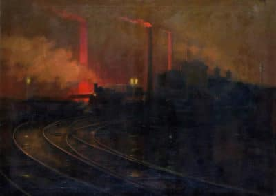 Steel works Cardiff - Lionel Walden (1926)