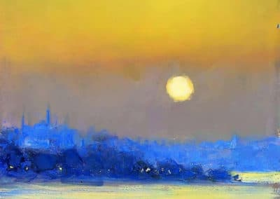 Towards Rustempasa with Süleymaniye Mosque, light on the Bosphorous - Andrew Gifford (2010)