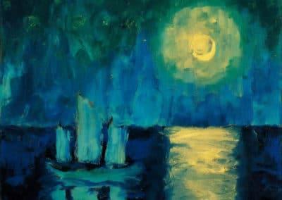 Bateau de nuit - Emil Nolde (1921)