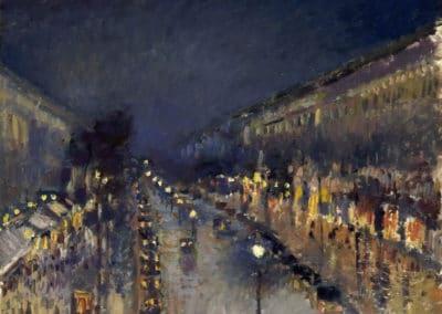 Boulevard Montmartre la nuit - Camille Pissarro (1897)