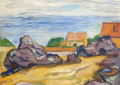 Hus i Borre - Edvard Munch (1904)