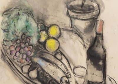 La bouteille de Bordeaux - Marc Chagall (1950)