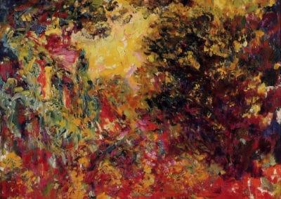 La maison de l'artiste vue du Jardin aux roses - Claude Monet (1922)