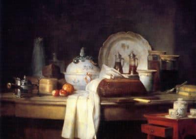 La tablée - Jean-Siméon Chardin (1763)