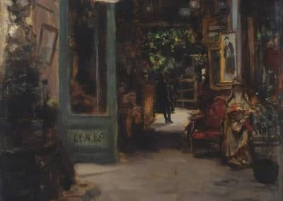 Old curiosity shop, Dieppe - Bernard Sickert (1895)