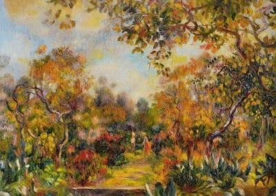 Paysage à Beaulieu - Pierre-Auguste Renoir (1893)