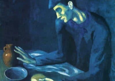 Petit déjeuner d'un homme aveugle - Pablo Picasso (1903)
