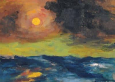 Soleil voilé - Emil Nolde (1950)