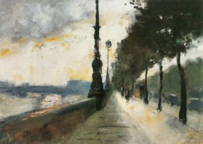 Waterloo bridge in the sun - Lesser Ury (1899)