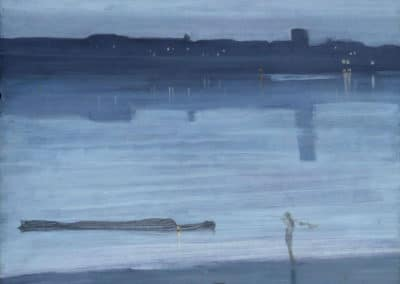 Chelsea, nocturne blue and silver - James Abbott McNeill Whistler (1871)