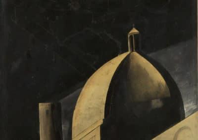 Chiesa in periferia o La cattedrale - Mario Sironi (1946)