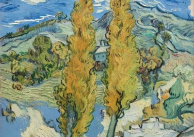Deux peupliers dans les Alpilles - Vincent van Gogh (1889)