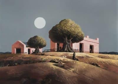 Estancia rosada con luna - Jorge Damiani (1996)