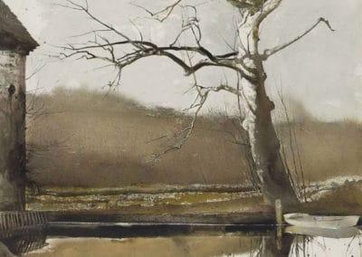 Flat boat - Andrew Wyeth (1988)