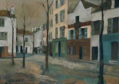 La place du Tertre - Maurice Utrillo (1934)