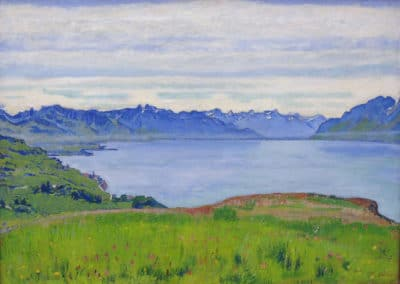 Landscape on lake Geneva - Ferdinand Hodler (1908)