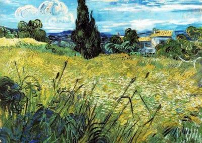 Le champ de blé vert avec cyprès - Vincent Van Gogh (1889)