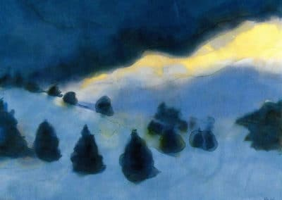 Mountain landscape with snow - Emil Nolde (1930)