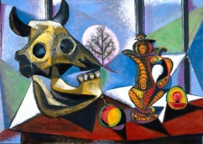 Nature morte au crane de taureau - Pablo Picasso (1939)
