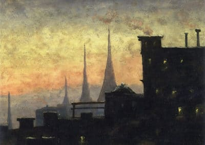 New York rooftops - Louis M. Eilshemius (1908)