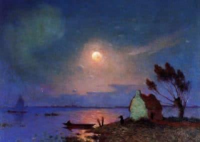 Pont Aven au clair de lune - Ferdinand du Puigaudeau (1899)